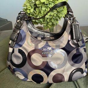 Coach Blue/Silver Bag